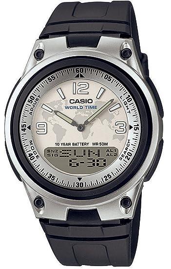 CASIO AW-80-7A2VEF - Reloj analógico Digital de Cuarzo con Correa de Resina para Hombre, Color Negro: Amazon.es: Relojes