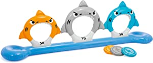 """Intex Feed The Sharks, Inflatable Disk Toss for Land & Water, 105"""" X 20"""" X 36"""", for Ages 6+"""