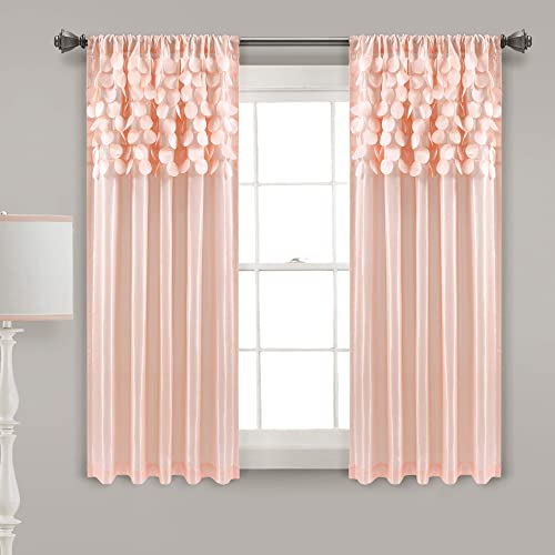 Deal of the week: Lush Decor Blush Circle Dream Window Curtains Panel Set