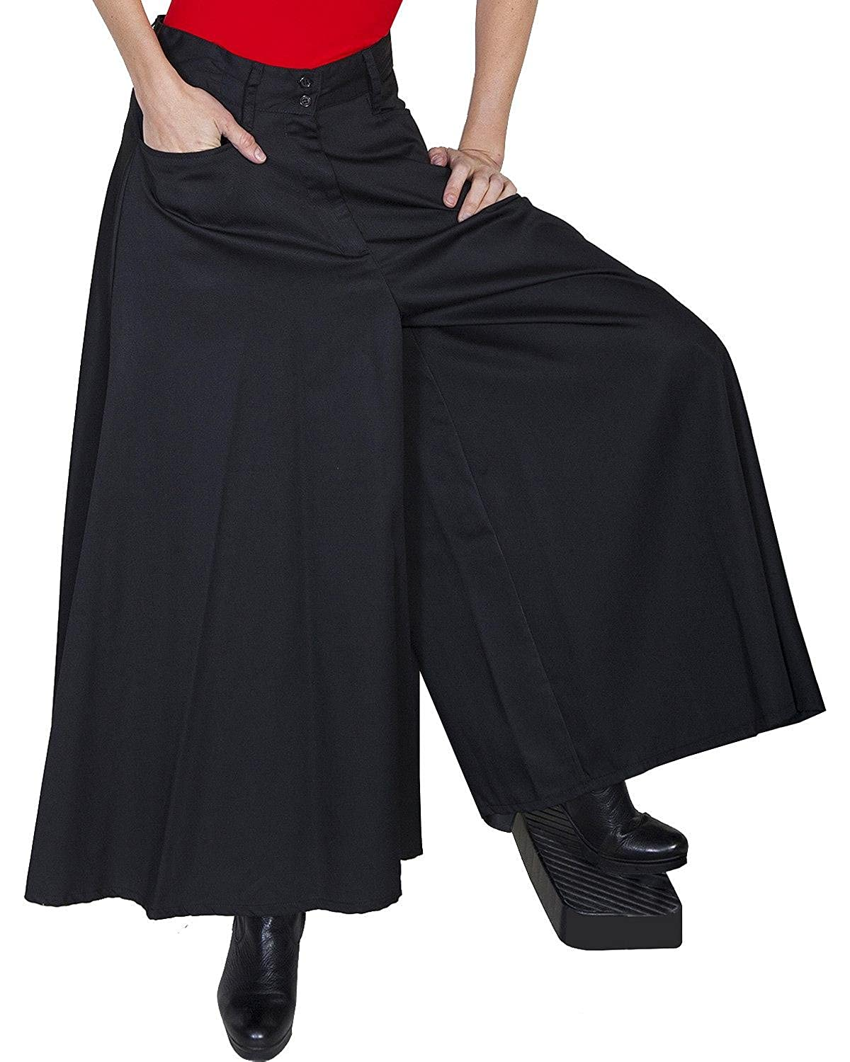 Steampunk Women's Pants, Leggings & Bloomers Scully Womens Long Split Skirt $83.74 AT vintagedancer.com