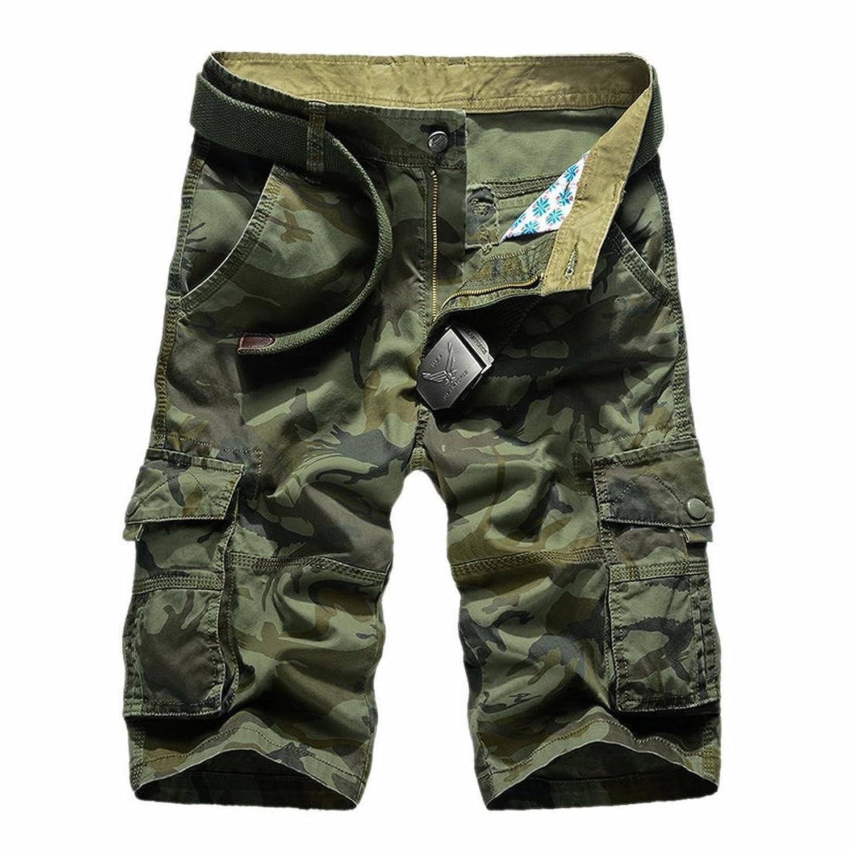 edfc1ea938 free shipping XQS Mens Straight Classic Multi Pocket Camo Cargo Shorts