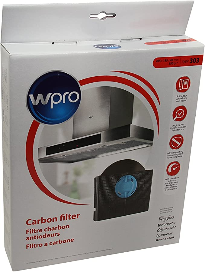 Genuine WHIRLPOOL IKEA Campana Extractora de carbón filtro de ...