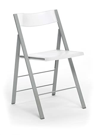 Silla plegable sillas taburetes , color blanco
