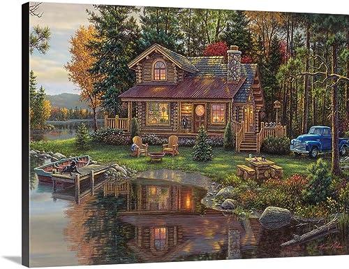 Peace Like a River Cabin Canvas Wall Art Print