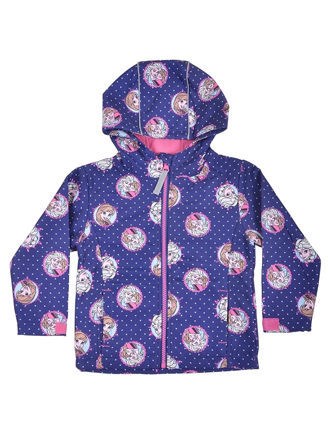 Disney Frozen Anna & Elsa 'Soft Shell' Zipped Jacket 100% Polyester 2-9 Years Clothing