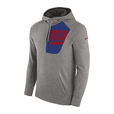 Nike Men s New York Giants Pullover Hoodie Fly Rush Dark Grey  Heather White Gym b0db5bb96