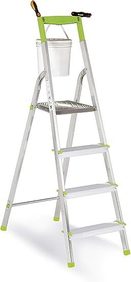 Casabriko - Escalera doméstica de Aluminio, Verde, Verde, 11034: Amazon.es: Hogar