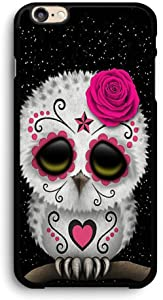 Cute Red Day of The Dead Sugar Skull Owl iPhone Case,PC Hard Case for iPhone (7/8)