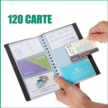 ETUI Porte Carte Credit Visite Fidelite Carnet Classeur 150 Cartes En PU Noir
