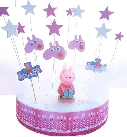 Set Di Decorazioni Peppa Pig Per Torta Di Compleanno Amazonit