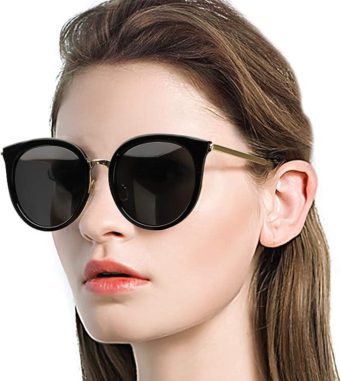 Aviator Sunglasses Royal Blue Mirrored Polarized Lens Retro Women fashion UV