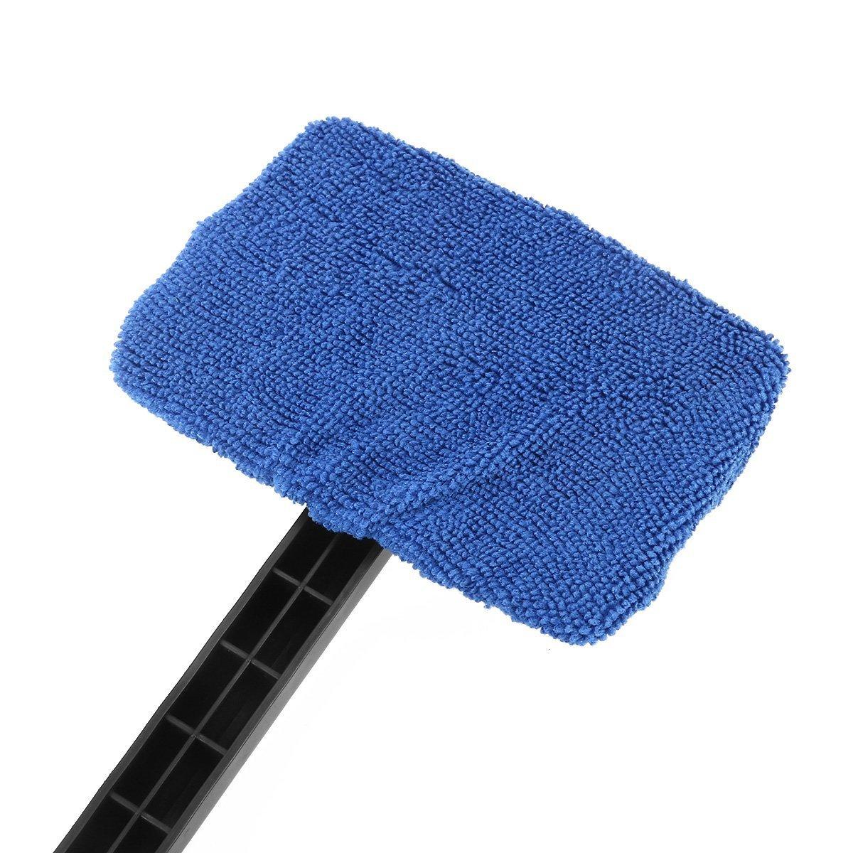 Bleu WINOMO 2/pcs de voiture pare-brise Cleaner Brosse Auto fen/être en verre outils de brosse de nettoyage avec long manche