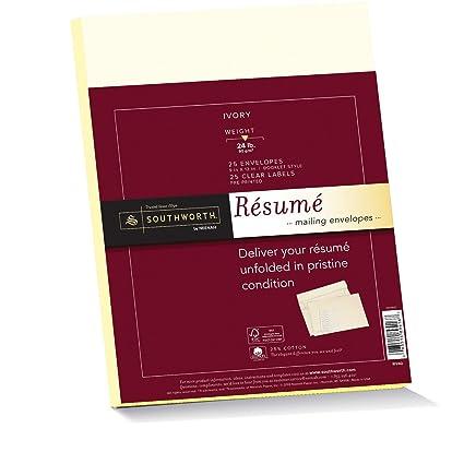 Amazoncom Southworth 25 Cotton Rsum Envelopes and Labels 9 x