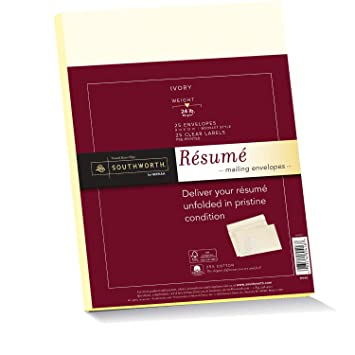 southworth resume envelopes 9x12 inches and labels 25 cotton 24 lb