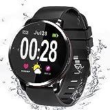 Smartklocka, fitnessmätare, Bluetooth-klocka, aktivitetsspårare, stödjer sport kaloriräknare/hjärtfrekvens/blodtryck…