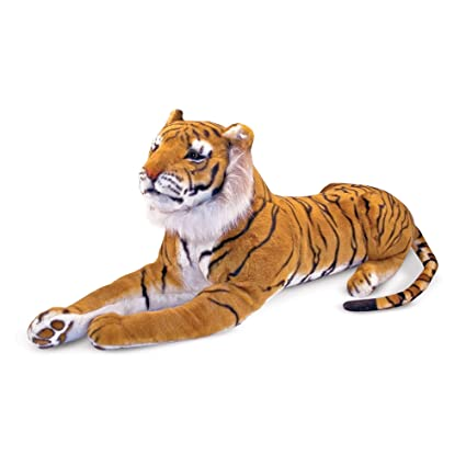 Amazon.com: Melissa & Doug Giant Tiger - Lifelike Stuffed ...