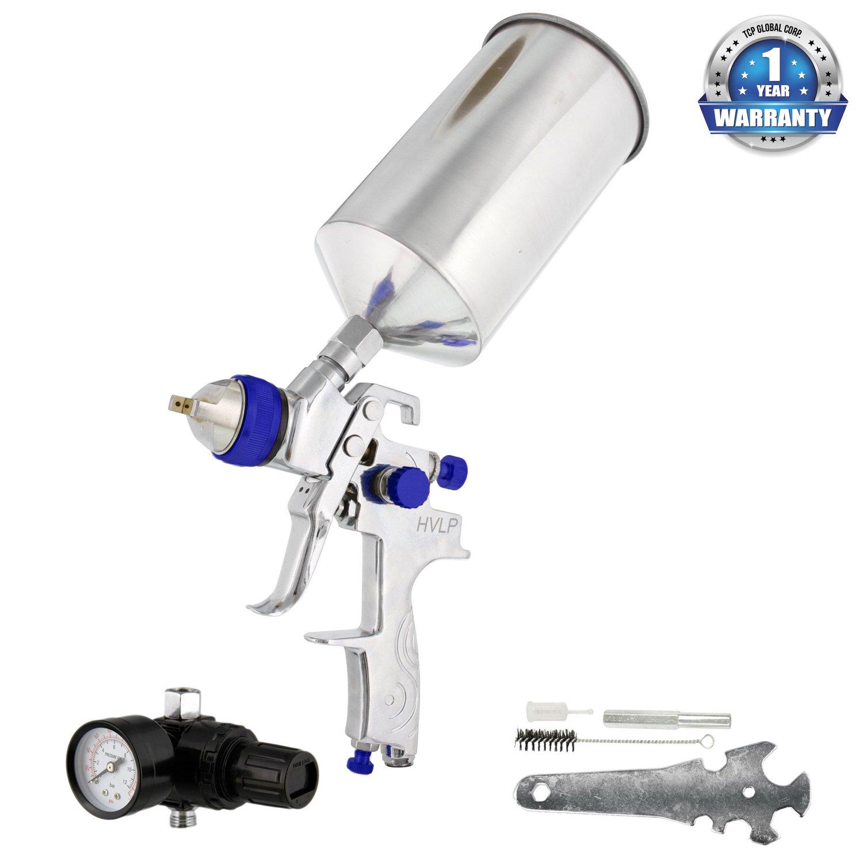 TCP Global Pro HVLP Multi-Purpose Spray Gun with 1.5 Nozzle/Tip/Regulator (Multi-Purpose Gun)