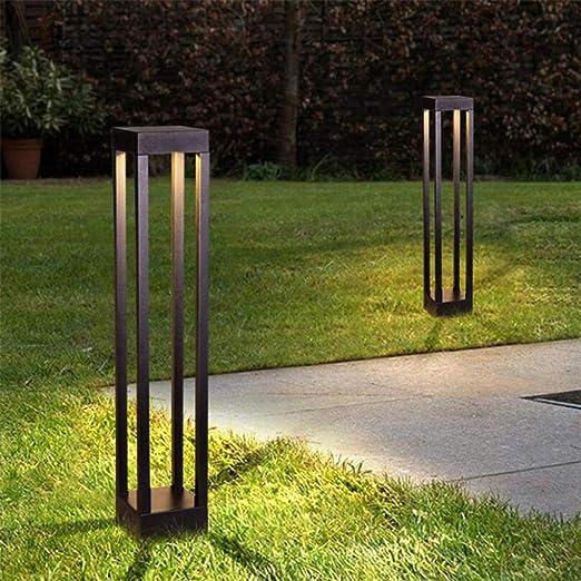 Rejilla Jardín Luz LED Lámparas de césped Exterior Impermeable Moderna Lámpara cuadrada de aluminio para Jardín Césped Puerta Parque Decoración del paisaje-Blanco natural_200 mm (DC12V)_Blanco: Amazon.es: Iluminación