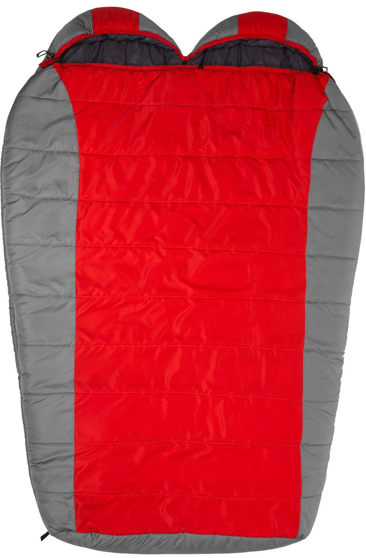 XXL Rot//Grau TETON Erwachsene Tracker-15C//+5F Ultraleicht Doppelschlafsack