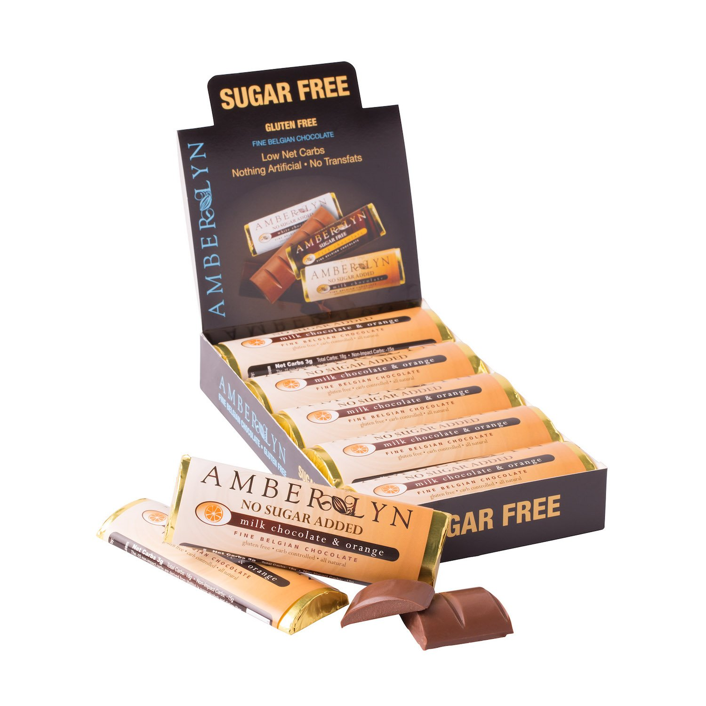 Amazon.com : Amber Lyn Sugar-Free Dark Chocolate, 15-Count : Candy ...