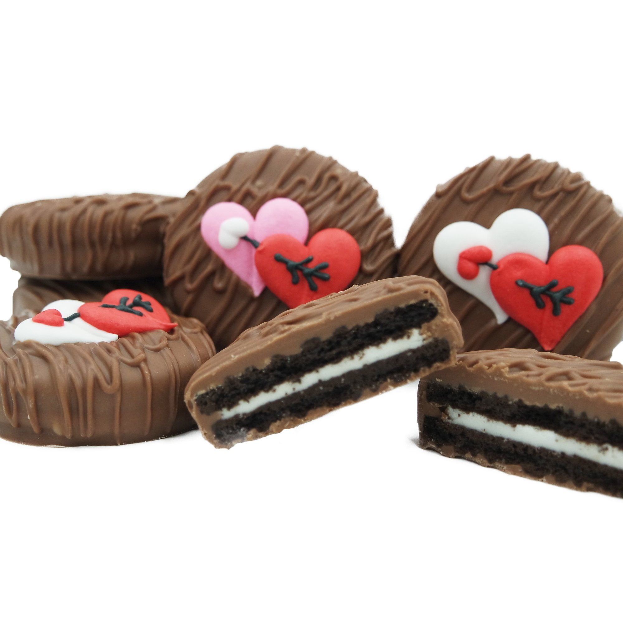 Philadelphia Candies Milk Chocolate Covered OREO® Cookies, Valentine's Day Gift 8 Ounce