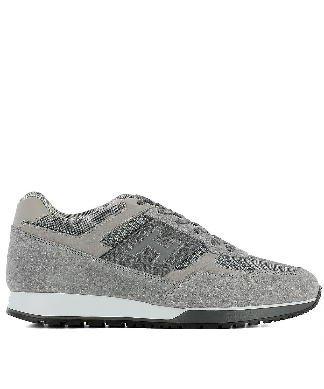 Hogan メンズ HXM3210Y940HIQ9AZF グレー ファブリック 運動靴 B079LLRS88
