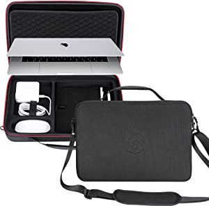 Smatree Carry Case Compatible for 15.4 inch MacBook Pro 2019/2018/ 2017 Laptop, Protective Business Briefcase for 2018/2017 MacBook Pro 15.4 in/2018 MacBook Air 13 inch(NOT for 16'' MacBook Pro 2019)