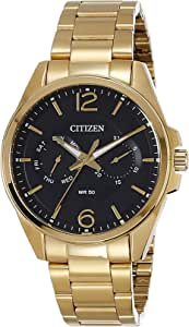 Citizen Men's Black Dial Stainless Steel Band Watch - AG8322-50E
