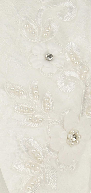 Bolero M/ädchen Lange Spitze /Ärmel Vorne Offen Elfenbein Diamante Perle Formale Bolero Party Achselzucken Kinder Strickjacke Top Alter 2-14 Jahre