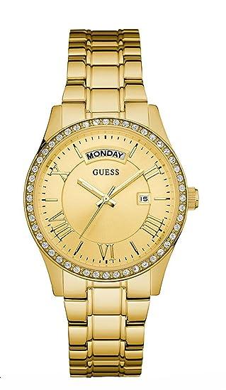 Guess Reloj analogico para Mujer de Cuarzo con Correa en Acero Inoxidable W0764L2: Amazon.es: Relojes