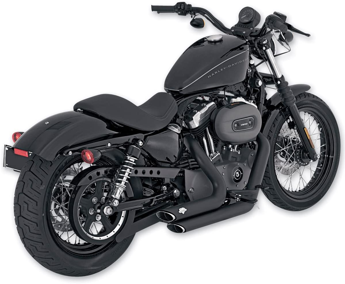 Vance /& Hines 47219 Black Shortshots Staggered Exhaust For Harley-Davidson Sportsters