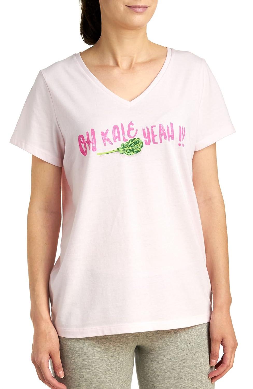 c27d725b56f4 HUE Sleepwear Women s Oh Kale Yeah Short Sleeve V-Neck Sleep Tee at Amazon  Women s Clothing store