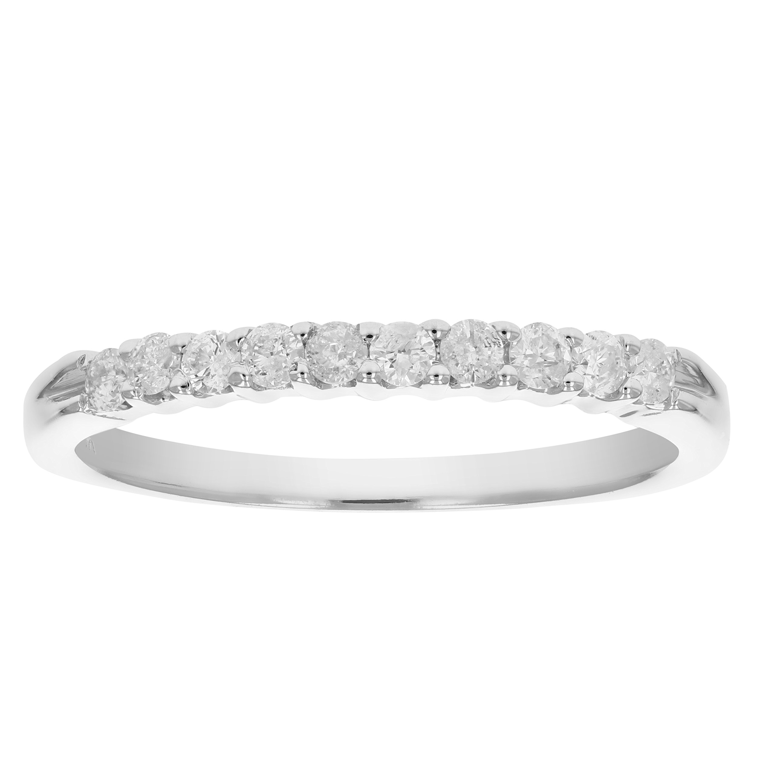 1/4 ctw Diamond Wedding Band in 14K White Gold Size 6
