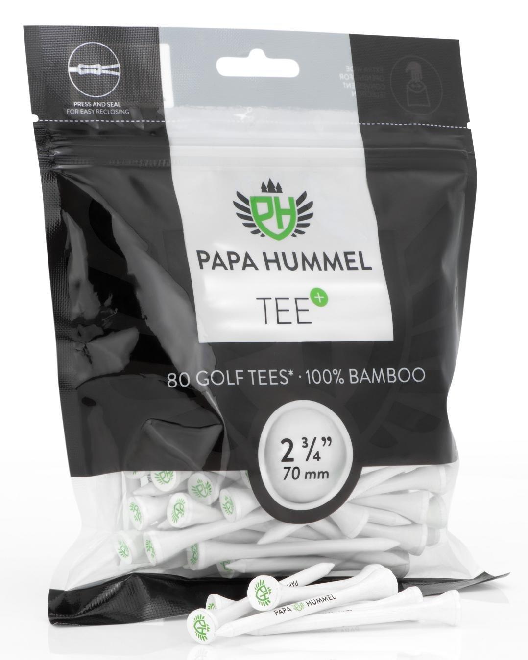 Tees de golf premium - 70mm - 80 piezas - 100% bambú por solo 7,99€