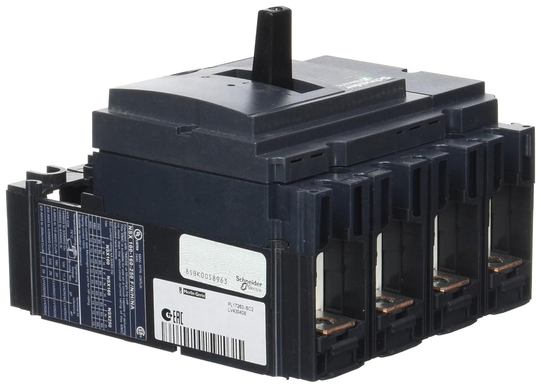 690/Vac Schneider Electric Lv430408/Nsx160//°F Disjoncteur Compact sans lecteur de prise de vue 4P B/âtons 160/amp/ères 50//60/Hz