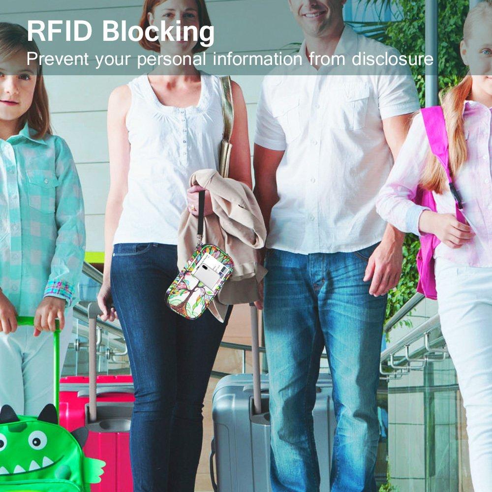Family Passport Holder, Fintie RFID Blocking Zipper Case Document Organizer, Love Tree by Fintie (Image #7)