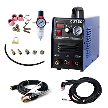 Piloto arco plasma cortador CUT50P 50A 220V no-Touch digital aire inversor portátil equipo de