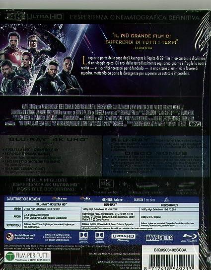 Avengers - Endgame Blu-Ray 4K Ultra Hd+2 Blu-Ray Italia Blu-ray: Amazon.es: Don Cheadle, Chris Evans, Chris Hemsworth, Scarlett Johansson, Jeremy Renner, Mark Ruffalo, Anthony Russo, Joe Russo, Don Cheadle, Chris Evans: Cine
