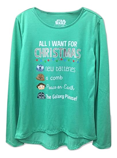 df3cb7994a6b Girls Star Wars 'All I Want For Christmas' Long Sleeve Graphic Shirt - Green