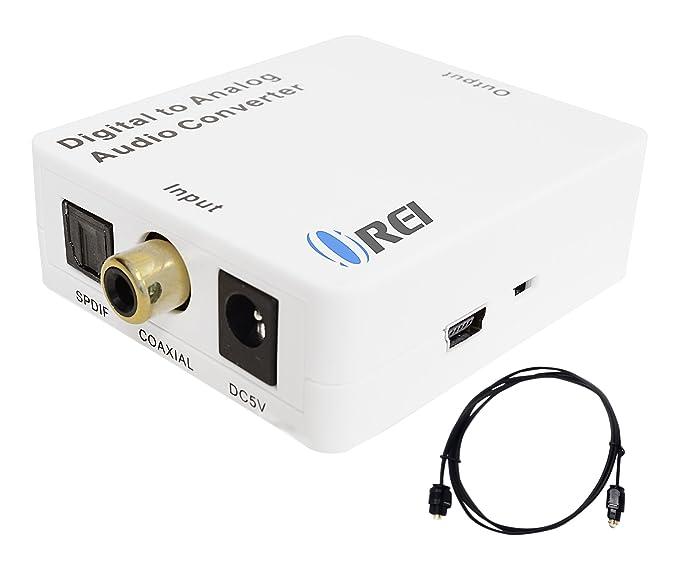 Orei Da21 X Bit SPDIF óptico y coaxial premium digital a analógico convertidor de audio: Amazon.es: Electrónica