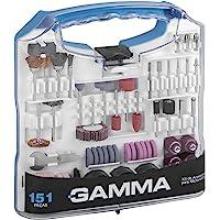 Kit de Acessórios para Microrretífica com 151Peças, Gamma Ferramentas G19507AC, Azul