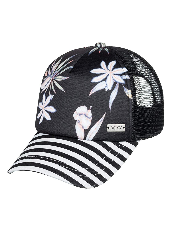Roxy Womens Water Come Down Trucker Hat Marshmallow Tropical Nights One Size ERJHA03501