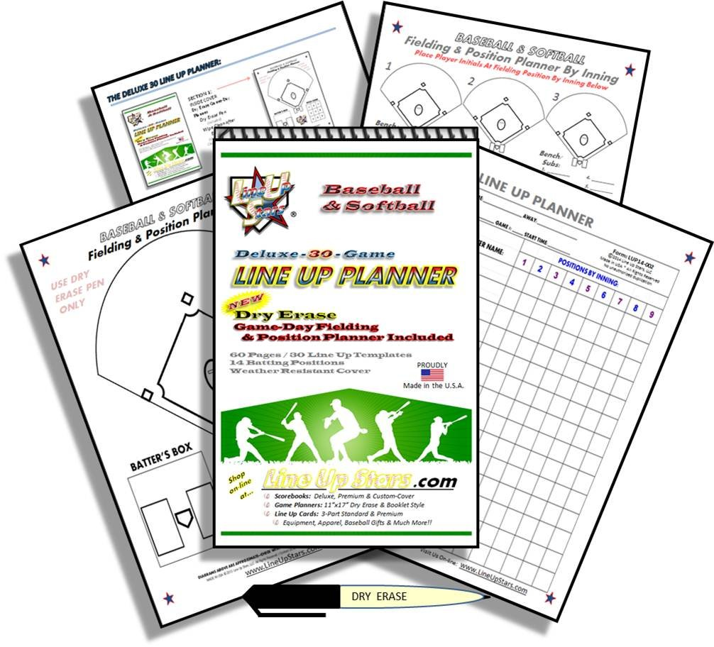 Amazon deluxe 30 game line up planner 55 x 85 booklet amazon deluxe 30 game line up planner 55 x 85 booklet style wdry erase field player position line up planning page included sports pooptronica Gallery