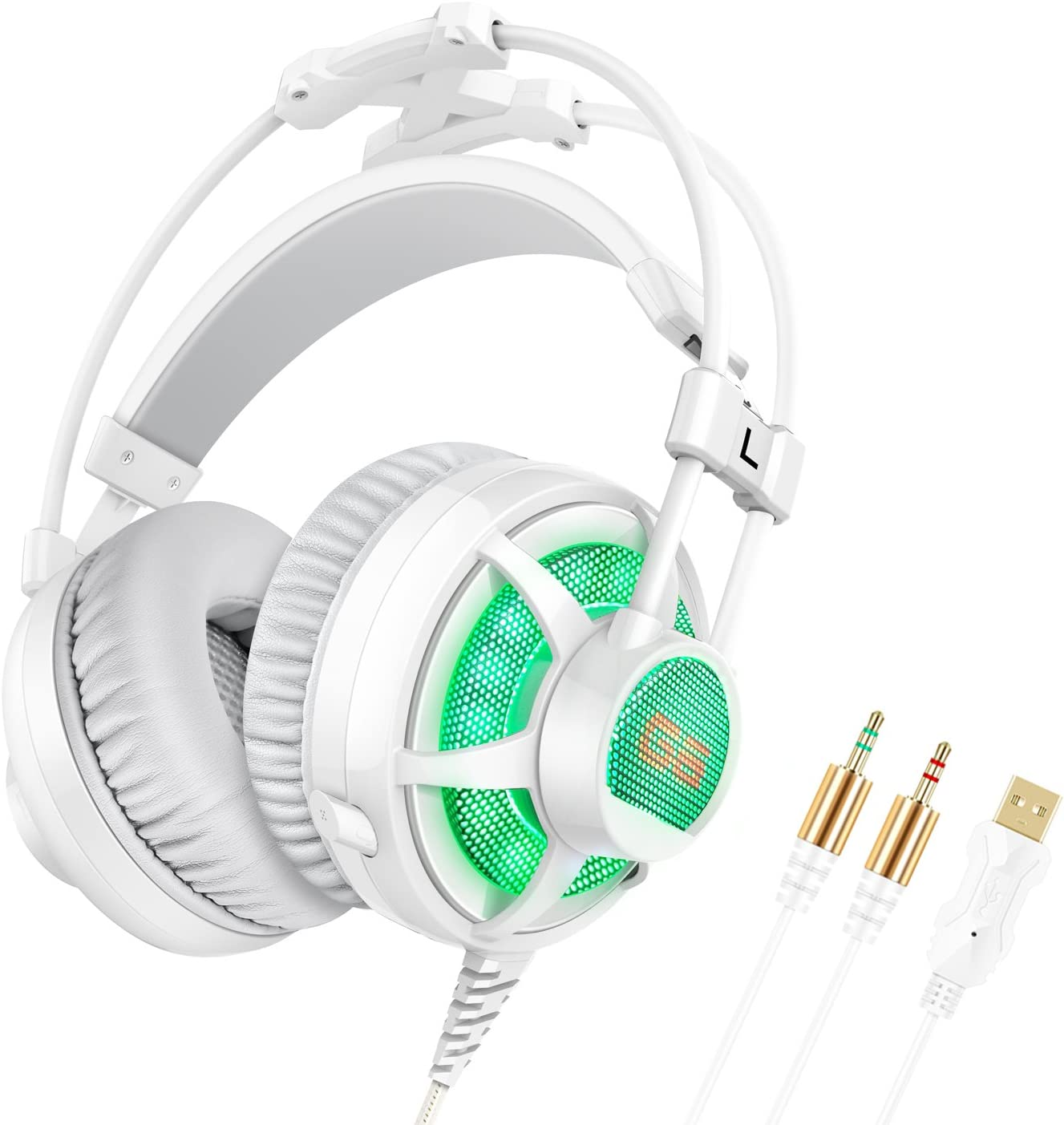 Honstek G6 PC Gaming Headset Over Ear, LED, with Microphone