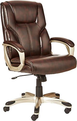 AmazonBasics High-Back Executive Swivel Office Desk Chair