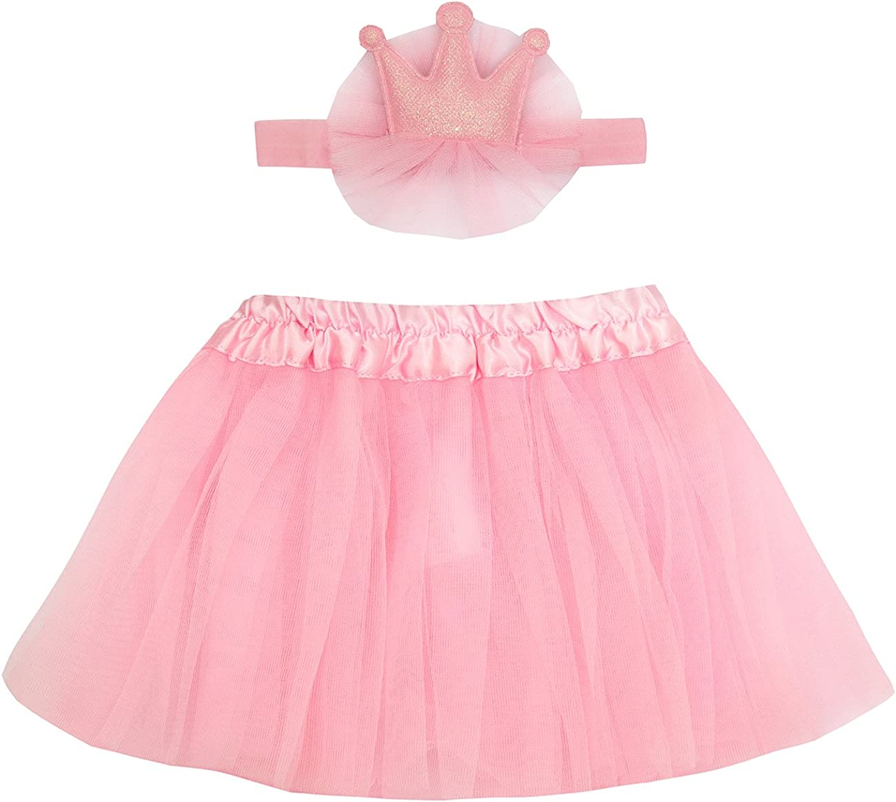 Girls Baby Kids Queen Princess Headband And Elastic Tutu Skirt Dress Set