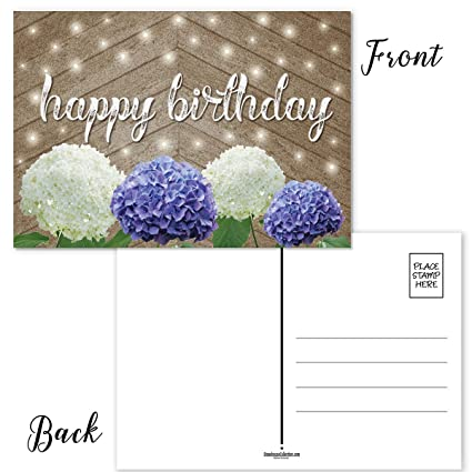 50 tarjetas postales de cumpleaños - 5 diseños - 4 x 6 ...
