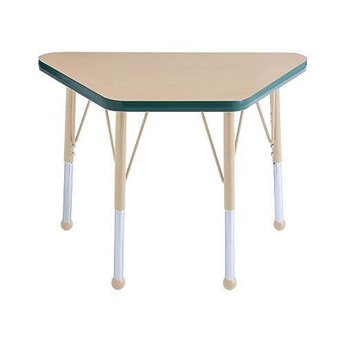 ECR4Kids Everyday T-Mold 18″ x 30″ Trapezoid Activity School Table