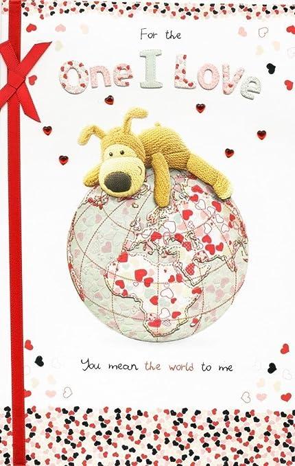 Amazon Boofle One I Love Embellished Birthday Greeting Card