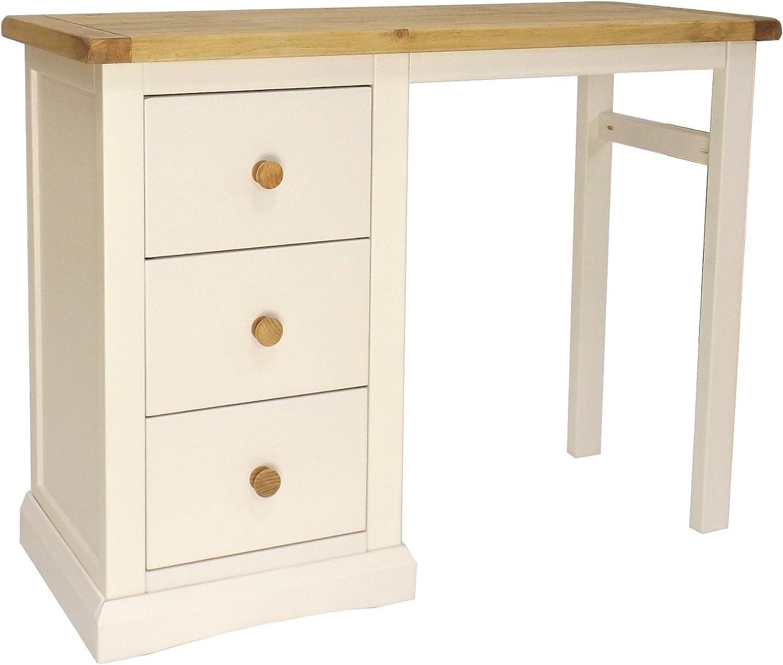 40x100x75 cm Wood White Cabinet Bits 3 Drawer Desk